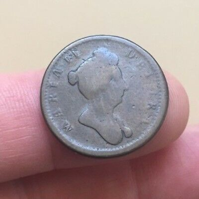 Mary II 1688-1694 rose farthing - circulated pattern coin