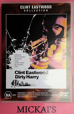 DIRTY HARRY - CLINT EASTWOOD COLLECTION #21516 WARNER BROTHERS DVD PAL Rare OOP