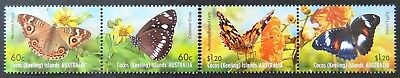 2012 Cocos Keeling Island Stamp - Butterflies - Set of 4 MNH