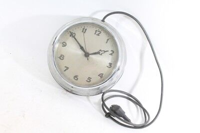 Beautiful Old Wall Clock with Cable Watch Old Vintage Secondary Clock