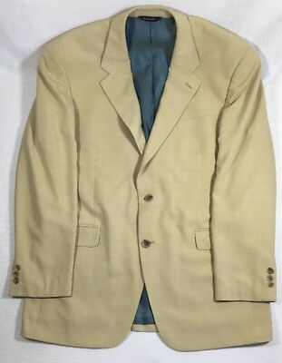 Alan Flusser Sport Coat Blazer Jacket 2 Button Beige Spring Summer 42R