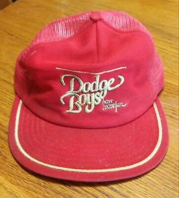Old vintage red DODGE BOYS- have more fun cotton/mesh hat (H20)
