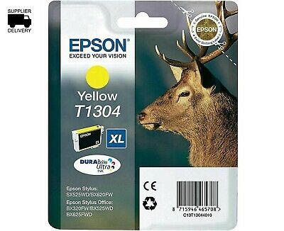ukVATincl T1304 XL EPSON NEW GENUINE ORIGINAL INK CARTRIDGE STAG Yellow