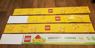 LEGO Retail Store Advertising Display Poster Sign Banner.