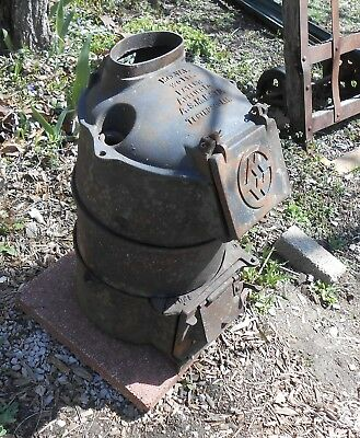 ANTIQUE:  Wood Stove / Water Heater.  Vintage, Rare, & Very Cool Decorator Piece