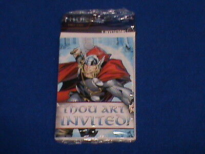 Marvel Thor The Mighty Avenger Birthday Party Invitations 8 Count Package