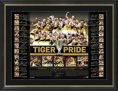 Richmond Tigers Pride 2017 AFL Premiers Team Signed Lithograph Framed $1499
