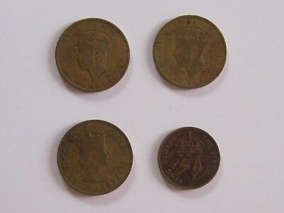 Lot of 4 Jamaican Coins 1938, 1952, 1958