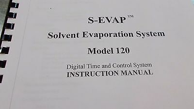 Organomation Solvent Evaporation S-Evap Instruction Manual