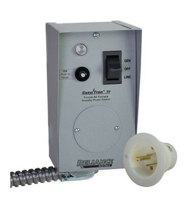 Reliance Corp TF201W Easy/Tran Transfer Switch for Generators Up to 2,500 Watts