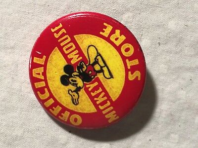 1937 -Mickey Mouse Official Store Pin Back Button