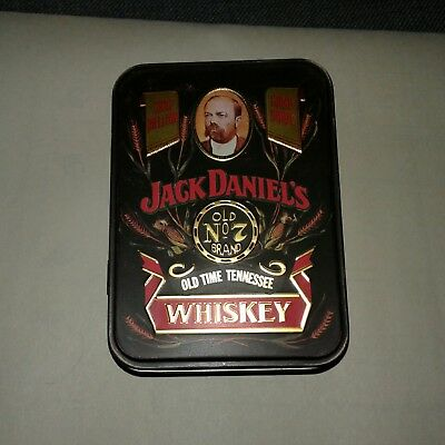 Jack Daniel's TN Whiskey Tin Hinged Lid Box Container  Old No. 7