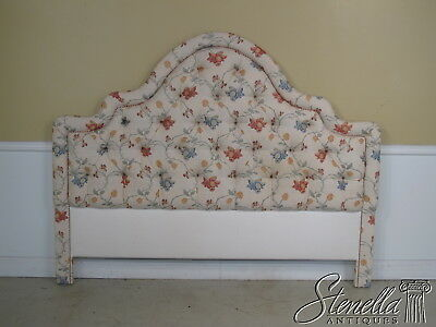 22051E:  Custom Crafted Tufted King Size Bed Headboard with Quality Upholstery
