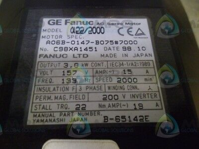 Ge Fanuc A06B-0147-B075#7000 As Pictured *new No Box*