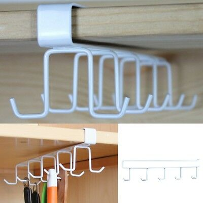 Under Shelf Cup Holder Kitchen Cabinet Mug Storage Rack Cupboard Hanging  Hanger