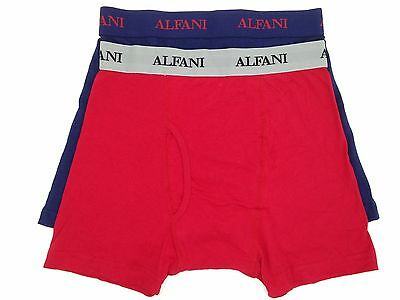 37c056563b5b $45 Alfani Underwear Mens Blue Red Stretch Slim Fit 2-Pack Boxer Briefs  Size S