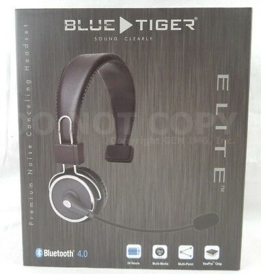 Blue Tiger Elite Pro Trucker Noise Cancelling Cell Phone Bluetooth Headset NEW!!