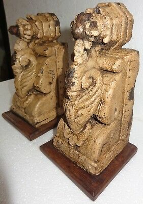 Antique Architectural Wooden Corbel redefine wall fixing Carved bird decor Q2