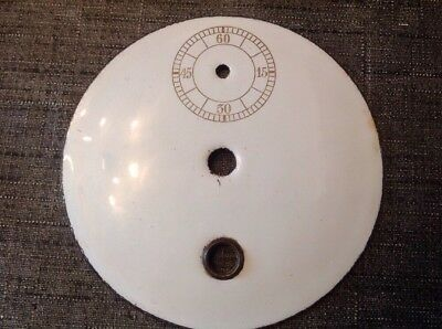 Antique Vienna Clock Dial Face Centre Ceramic 98mm Clockmakers Spare Parts