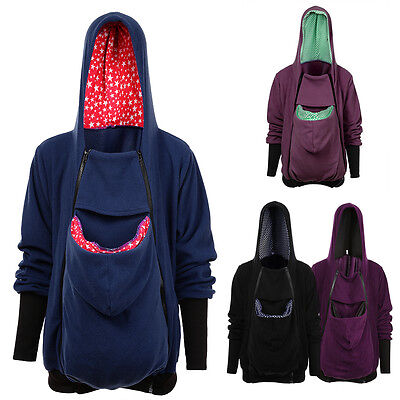 Women Maternity Hoodies Outwear Pregnant Clothes Baby Carrier Kangaroo Coat XW