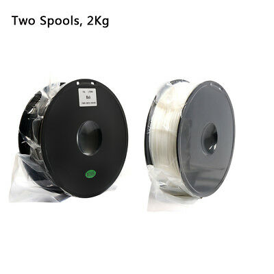 Cheap! Geeetech 2 Roll PLA Filaments1.75mm Black and White Color Ship from UK