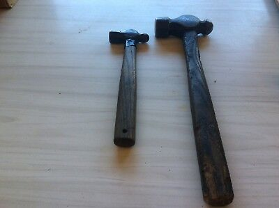 2  X Old Vintage Ball Pein Hammers
