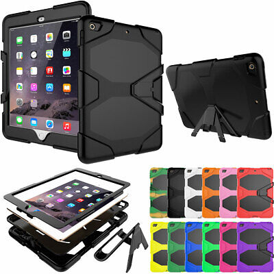 For Apple iPad 9.7 2018 6th Gen Hybrid Shockproof Stand Rugged Case Screen Cover