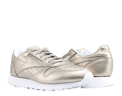 6945ad7c23c2e Reebok Classic Leather Melted Metal Gold White Women s Running Shoes BS7898