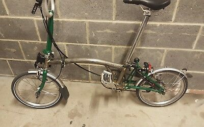 BROMPTON M6L RAW Lacquer Custom 6 Speed Plus Brompton Rear Light Pump VGC