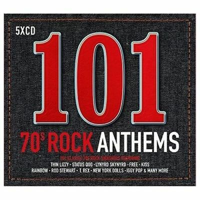 101 70s (SEVENTIES) ROCK ANTHEMS: 5CD SET  OFFICIAL Gift Idea Best OF 1970s set