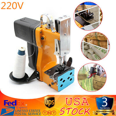 220V Industrial Portable Electric Bag Stitching Closer Seal Sewing Machine US