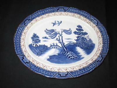 Booths Real Old Willow A8025 Pattern Small Oval Serving Platter 12.25 ins (31cm)