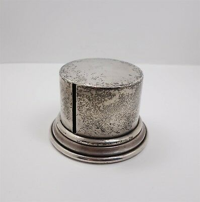 Estate Found Vintage 1940s/50s Sterling Silver Coil Stamp Roll Dispenser