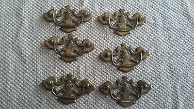 Lot of 6 vintage style drawer pull handles