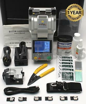 FiTeL S-177A SM MM Fiber Core Alignment Fusion Splicer w/ Cleaver S177 S177A