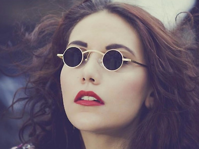 Small Round Vintage Vampire Sunglasses Trending Spring Gothic Steampunk Glasses