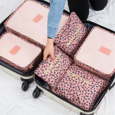 7Pcs Travel Storage Bag Waterproof Clothes Packing Cube Luggage Organizer Set US