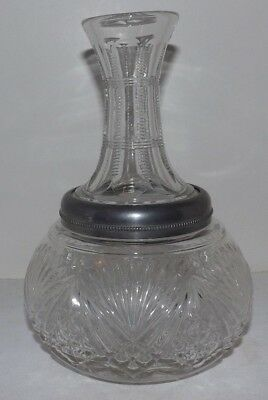 Unique 1897 Perfection Bottle Co Wilkes-Barre, PA Screw-Off Top CARAFE Decanter