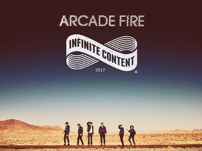 2 x Arcade Fire Tickets Sunday 15th April Birmingham Genting Arena