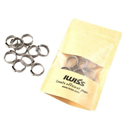 IWISS 10 PCS 3/4-inch PEX Stainless Steel Clamp Cinch Rings Crimp Pinch Fitting