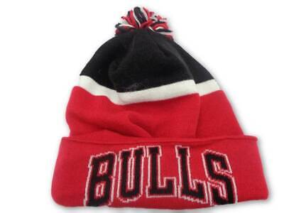 c5d42ba20f1 CHICAGO BULLS ADIDAS NBA Basic Red Cuffed Knit Hat Cap Toque Beanie ...