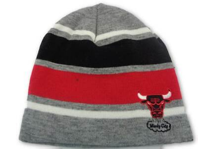 c5b094375d0 Chicago Bulls Mitchell   Ness NBA Athletic Grey Knit Hat Cap Toque Beanie  OSFA
