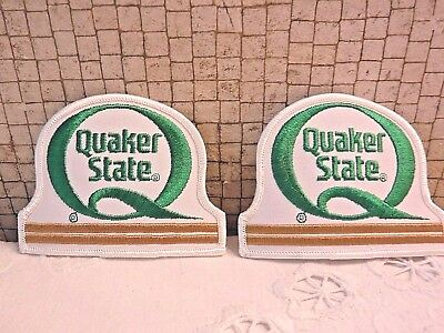 Quaker State Motor Oil Cloth Patch Set of FIVE Pieces