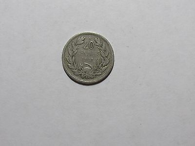 Old Chile Coin - 1921 20 Centavos - Circulated