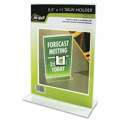 "Nu-dell Double-sided Sign Holder - 8.50"" Width X 11"" Height - Acrylic - (38020z)"