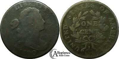 1800 1c Draped Bust Large Cent NICE GRADE rare old type coin money copper penny