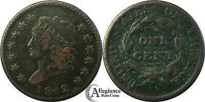 1812 1c Classic Head Large Cent NICE GRADE S-289 rare old type coin copper penny