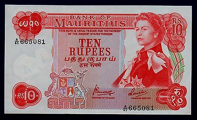 Mauritius Banknote 10 Rupees ND UNC