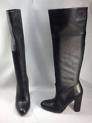 6a4b20e69df Steve Madden Eton Women Shoes Knee High Pull On Fashion Leather Boots Black  Sz 7