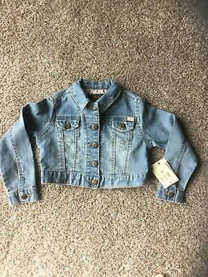 GIRLS LUCKY BRAND ~ Denim Jean Jacket Snap Front Size 4T